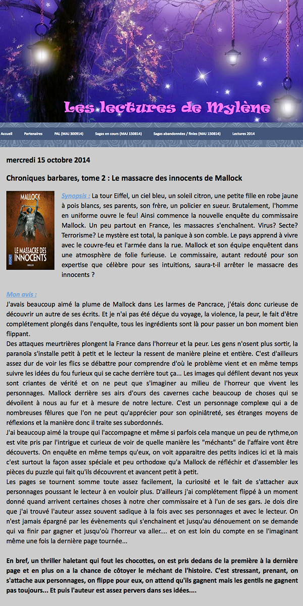 leslecturesdemylene chroniques barbares tome2