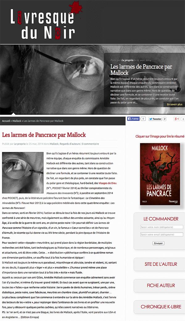 Livresque du Noir PANCRACE