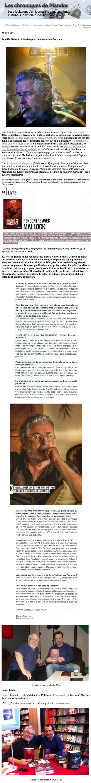 Amédée Mallock : interview pour Les larmes de Pancrace : Les chroniques de Mandor