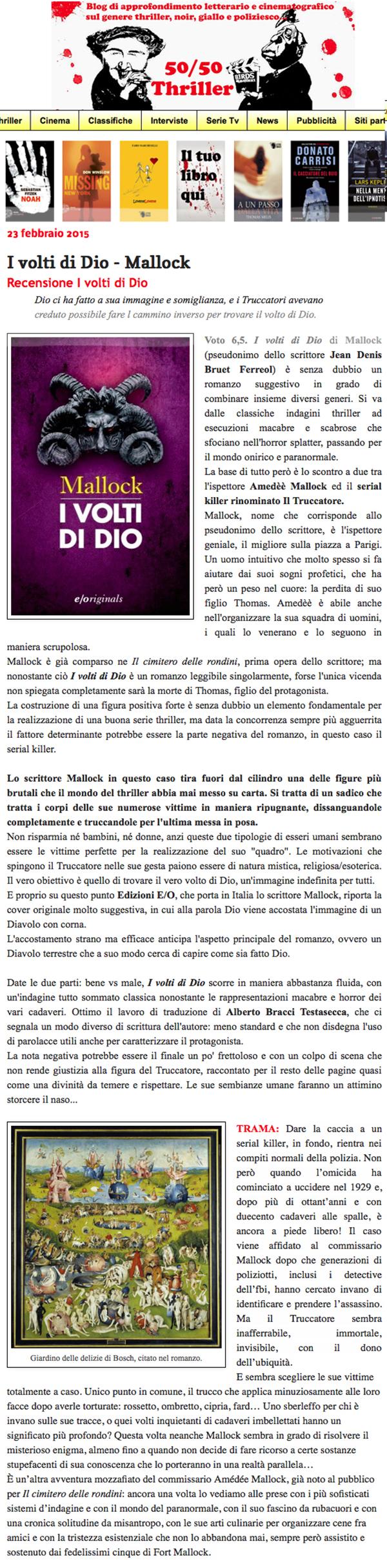 I volti di Dio - Mallock | 50/50 Thriller